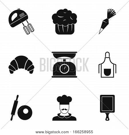 Sweet pastries icons set. Simple illustration of 9 sweet pastries vector icons for web
