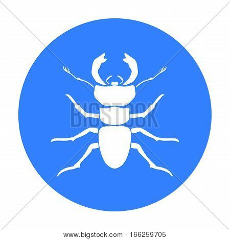 Forest red ant icon in blue design isolated on white background. Insects symbol stock vector illustration.