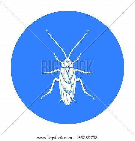 Cockroach icon in blue design isolated on white background. Insects symbol stock vector illustration.