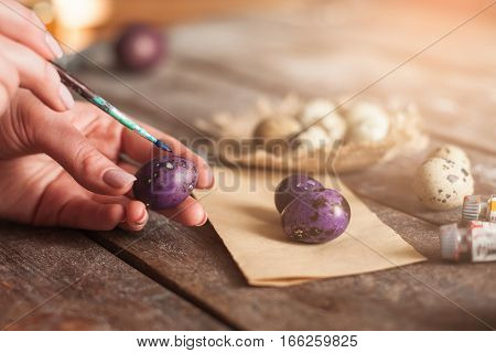 Easter Eggs Coloring Art Decoration Tradition Hobby Holiday Concept