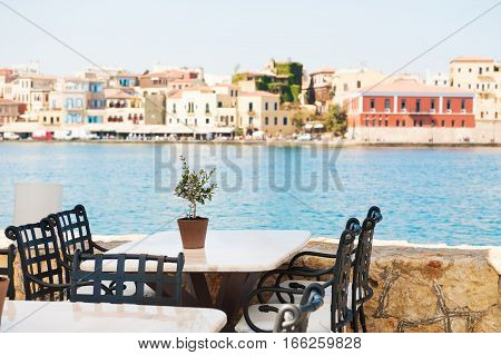 Cafe On The Sea Coast