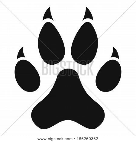Cat paw icon. Simple illustration of cat paw vector icon for web design