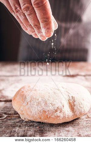 Bread Bun Crusty Fresh Warm Appetizing Homemade Recipe Bakery Preparing Kitchen Food Concept