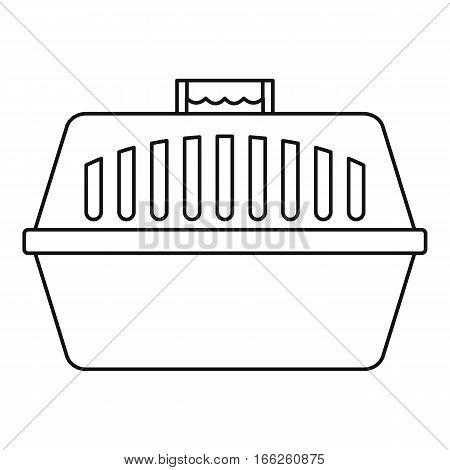 Pet carry case icon. Outline illustration of pet carry case vector icon for web design