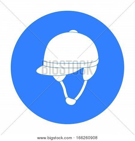 Jockey's helmet icon isolated on white background. Hippodrome and horse symbol stock vector illustration.