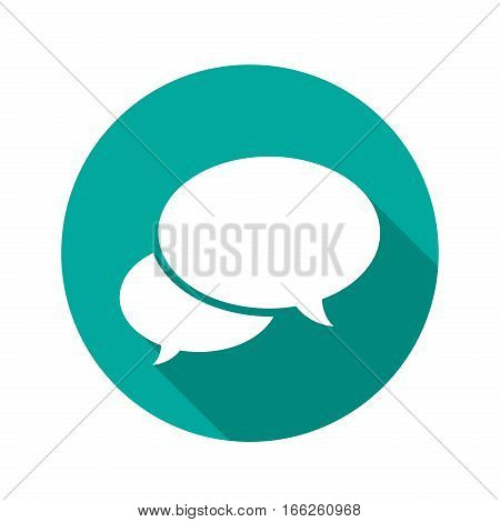 Chat Speech Balloons Flat Icon, a vector flat icon illustration of speech balloons or bubbles