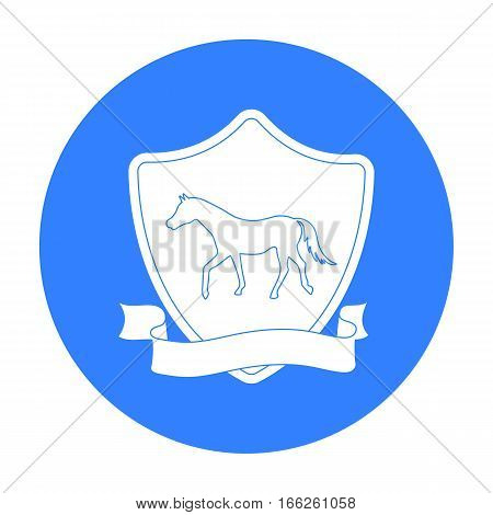 Equestrian blaze icon isolated on white background. Hippodrome and horse symbol stock vector illustration.