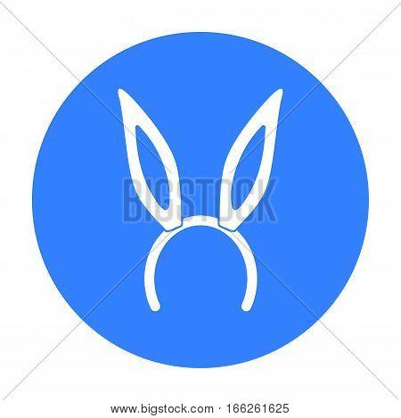 Bunny headband icon isolated on white background. Hats symbol vector illustration.