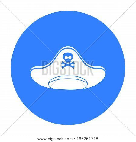 Pirate hat icon isolated on white background. Hats symbol vector illustration.