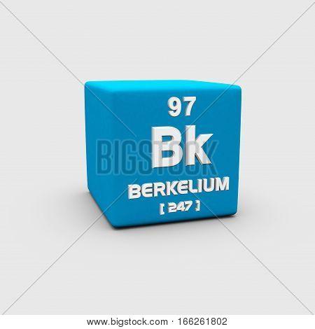 Berkelium is a transuranic radioactive chemical element with symbol Bk and atomic number 97.
