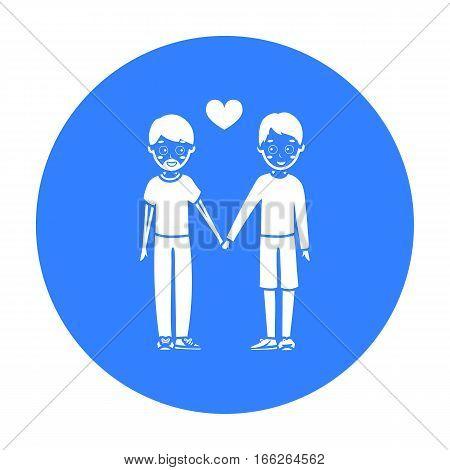 Gay icon blue. Single gay icon