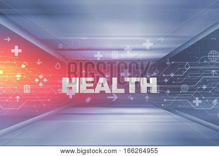 Medical Abstract Background Medical Symbols with 3d Health Text Suitable for Healthcare and Medical News Topic