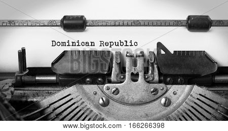 Old Typewriter - Dominican Republic