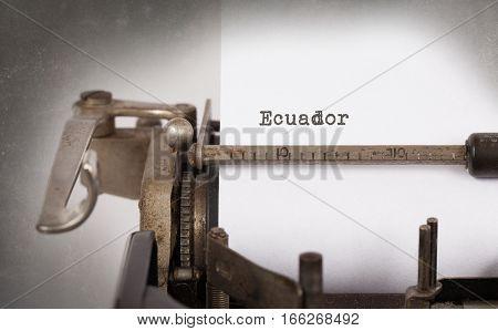 Old Typewriter - Ecuador