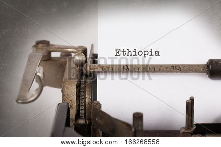 Old Typewriter - Ethiopia