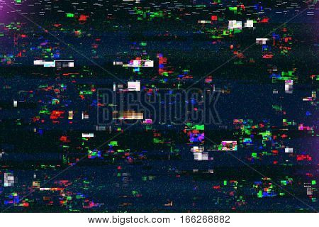 Digital tv damage television broadcast glitch abstract technology background