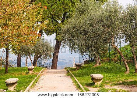 San Gimignano old  town in Tuscany Italy
