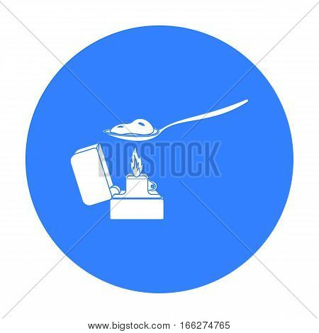 Heroin icon in blue style isolated on white background. Drugs symbol vector illustration.