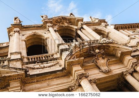 Close Up View Of The Basilica Di Santa Maria Maggiore, Rome, Italy