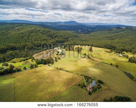 Australian Countryside Aerial Landscape.