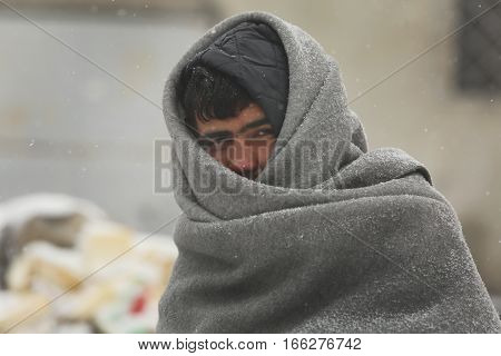 Migrants In Belgrade During Winter