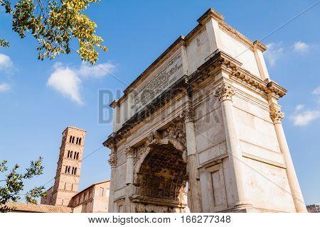 Arch of Titus. Roman Forum. Rome, Italy