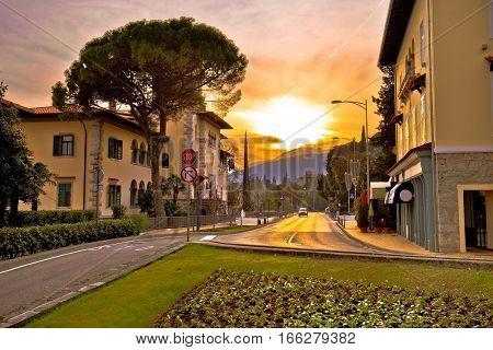 Steet Of Opatija Sunset View
