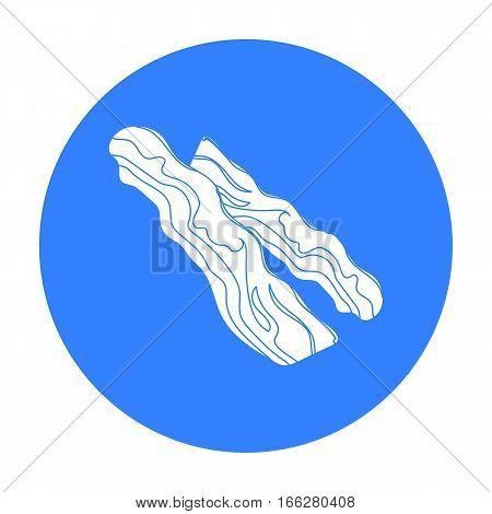 Bacon icon in blue style isolated on white background. Meats symbol vector illustration