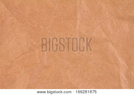 close up the brown crumpled paper texture