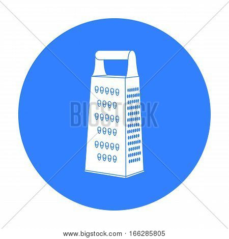 Grater icon in blue style isolated on white background. Kitchen symbol vector illustration.