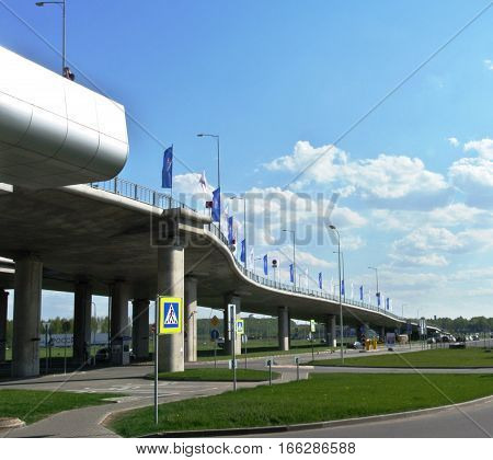 SAINT-PETERSBURG, RUSSIA - MAY 10, 2016: Automobile access to new terminal