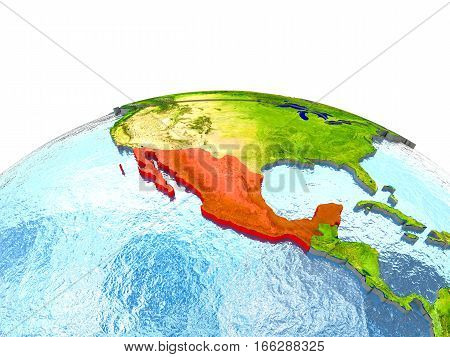 Mexico On Earth In Red