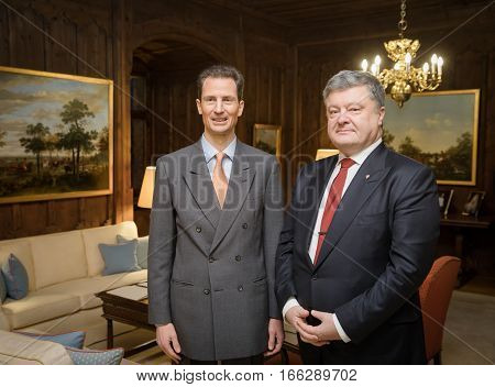 Alois, Hereditary Prince Of Liechtenstein And President Petro Poroshenko