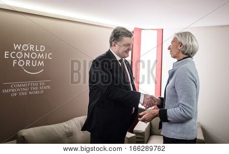 Director Of International Monetary Fund Christine Lagarde And Petro Poroshenko