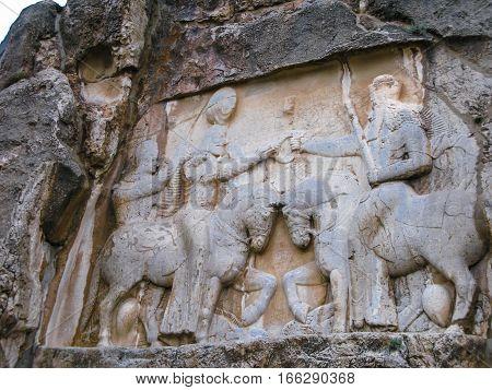 The investiture of Ardashir in Naqsh-e Rustam Persepolis ruin Iran