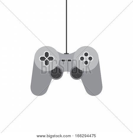 Joystick icon. Vector illustration. Video game symbol. Flat game joystick symbol isolated on white background.