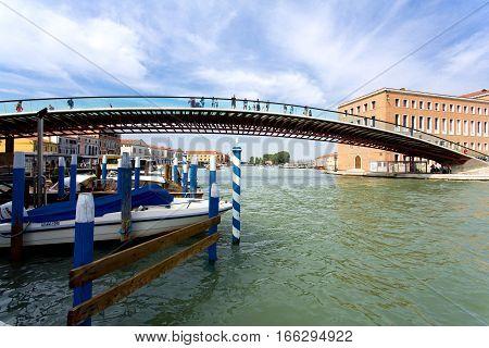 The Famous Calatrava Bridge In Venice