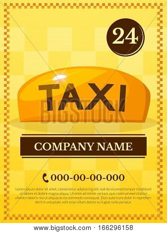 Taxi services advertising poster, vector illustration 4 of 4