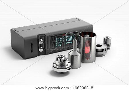 Electronic Cigaretts Device Box Mod To Smokeless Smoking 3D Render