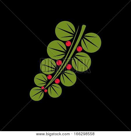 Spring Or Summer Leaf Simple Vector Icon, Nature And Gardening Theme Illustration. Stylized Tree Lea