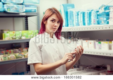 Doctor Woman In The Warehouse