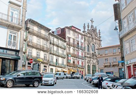 The Flores Street In Porto