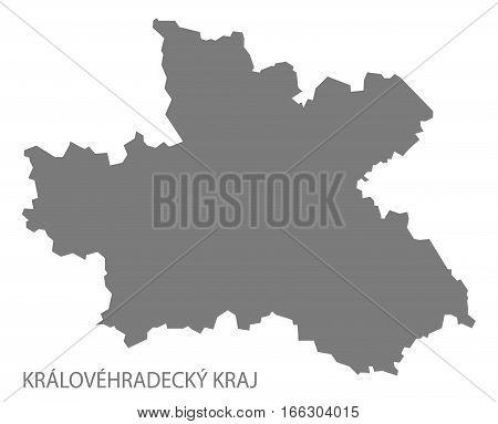 Kralovehradecky Kraj Czech Republic Map Grey