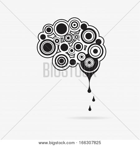 Creative mind - business vector logo template concept illustration. Abstract human brain creative sign. vector illustration