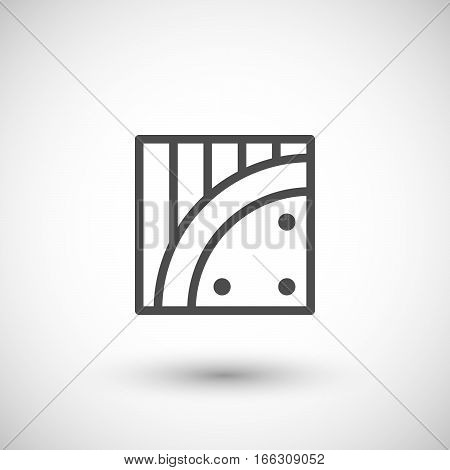 Insulation line icon isolated on grey. Vector illustration