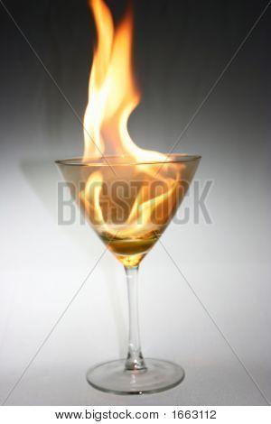 Martini Glass Fire