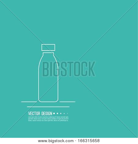 Pill bottle isolated icon on  background. Pill bottle for capsules. Medical container. vector illustration.