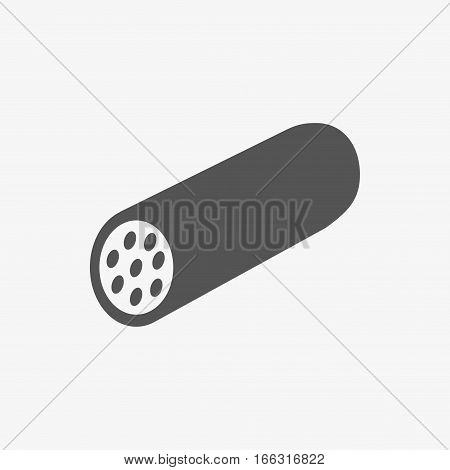 icon sausage stock vector illustration flat design