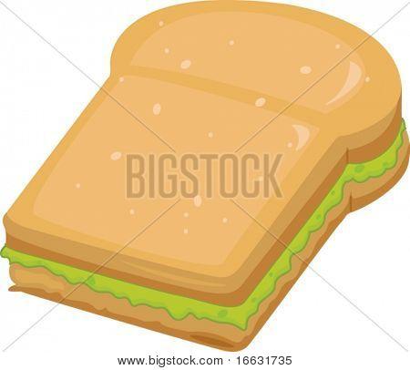 illustration of sandwitch on white