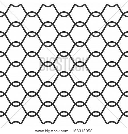 Net pattern, Rope net vector silhouette, seamless pattern
